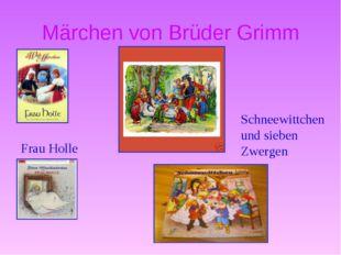 Märchen von Brüder Grimm Frau Holle Schneewittchen und sieben Zwergen