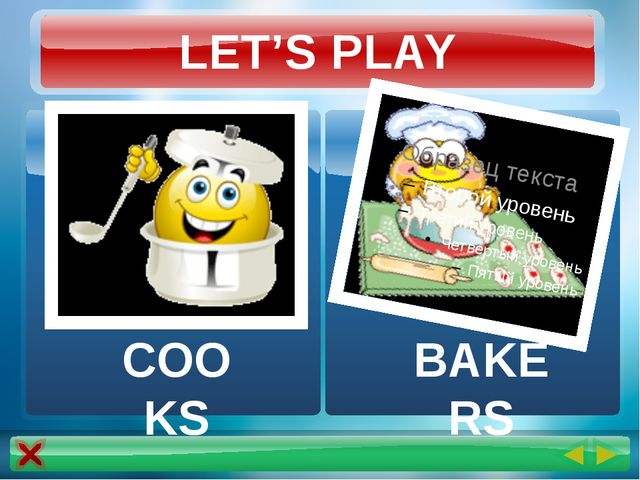 LET'S PLAY COOKS BAKERS