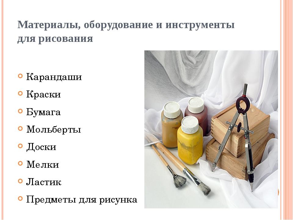 Материалы, оборудование и инструменты для рисования Карандаши Краски Бумага М...