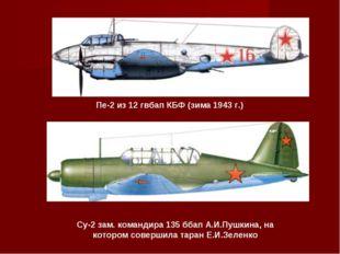 Пе-2 из 12 гвбап КБФ (зима 1943 г.) Су-2 зам. командира 135 ббап А.И.Пушкина,