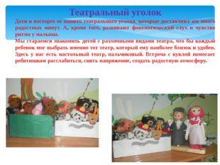 6.11.13 Театральный уголок Дети в восторге от нашего театрального уголка. кот
