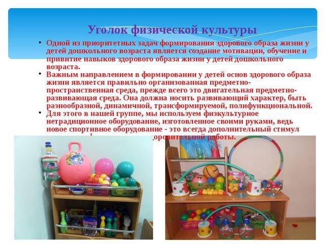 6.11.13 Уголок физической культуры Одной из приоритетных задач формирования з...