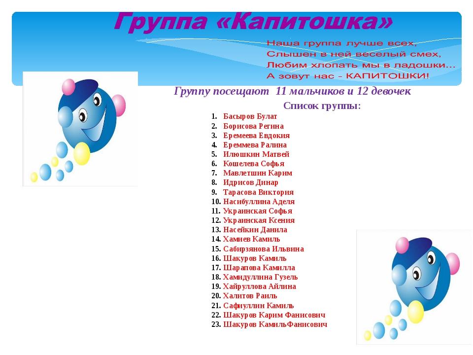 Список группы: Басыров Булат Борисова Регина Еремеева Евдокия Ереммева Ралина...