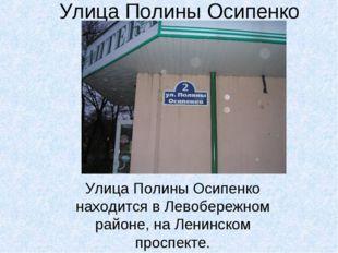 Улица Полины Осипенко Улица Полины Осипенко находится в Левобережном районе,