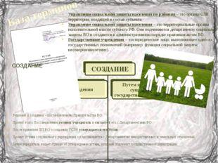 База терминов Управление социальной защиты населения по районам – это органы