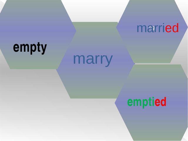 marry Gg married empty emptied