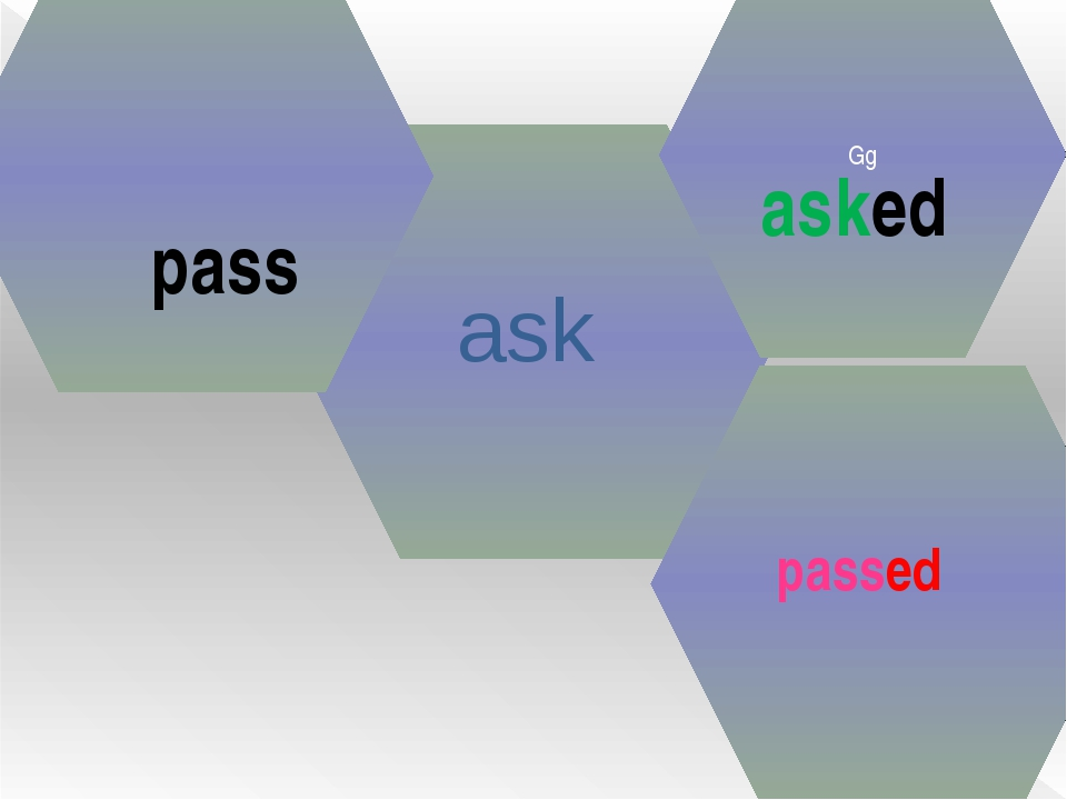 ask Gg asked pass passed