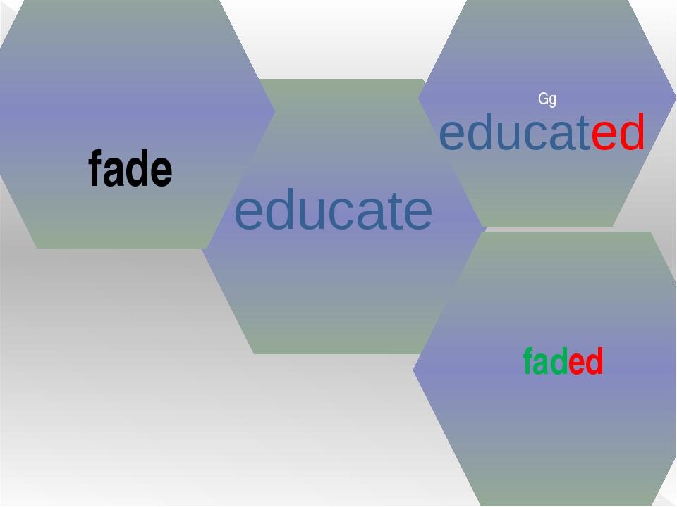 educate Gg educated fade faded