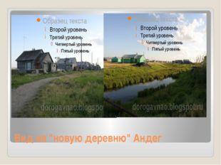 "Вид на ""новую деревню"" Андег"