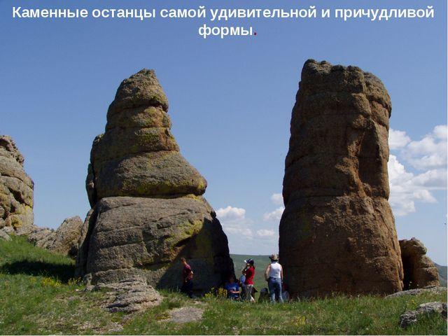 Каменные останцы самой удивительной и причудливой формы.