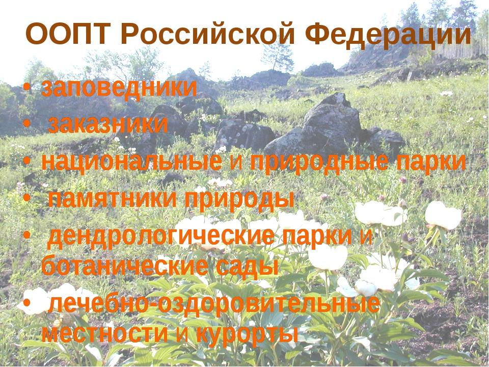 Особо охраняемы территории Забайкальского края ООПТ Российской Федерации