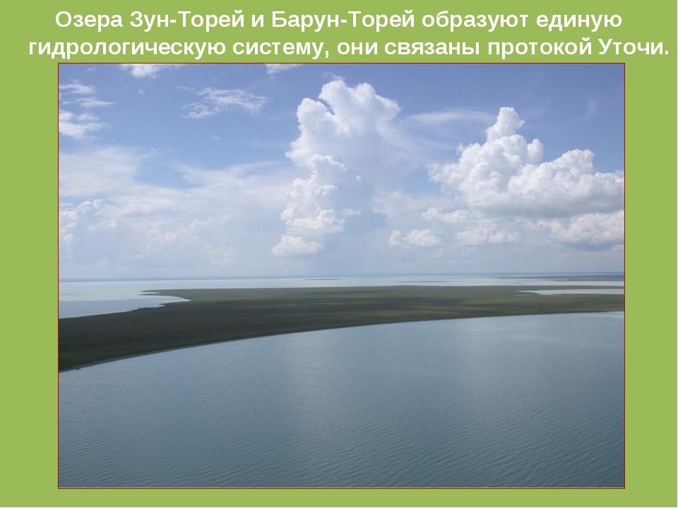 Озера Зун-Торей и Барун-Торей образуют единую гидрологическую систему, они св...