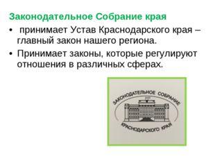 Законодательное Собрание края принимает Устав Краснодарского края – главный з