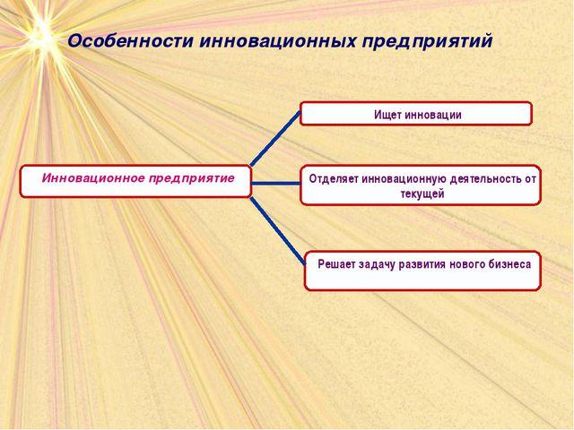 Особенности инновационных предприятий