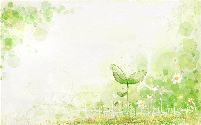 Hq весна, росток, растение, зелень, блики, рисунок, цветы, 1920x1200 картинки на рабочий стол, широкоформатные обои, фоны