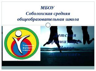 Детская организация «Новое поколение» МБОУ Соболохская средняя общеобразовате