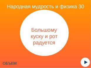 Народная мудрость и физика 40 ТЕМПЕРАТУРА Мороз не велик, а стоять не велит