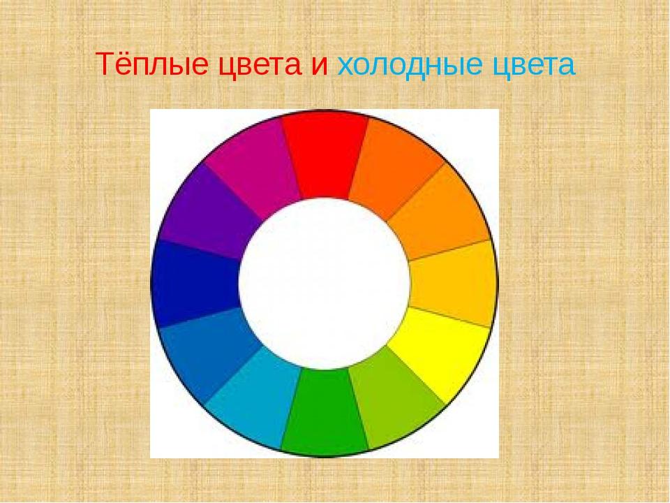 Тёплые цвета и холодные цвета