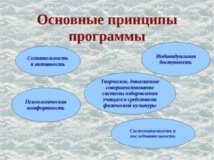 Основные принципы программы . Сознательность и активность Психологическая ком