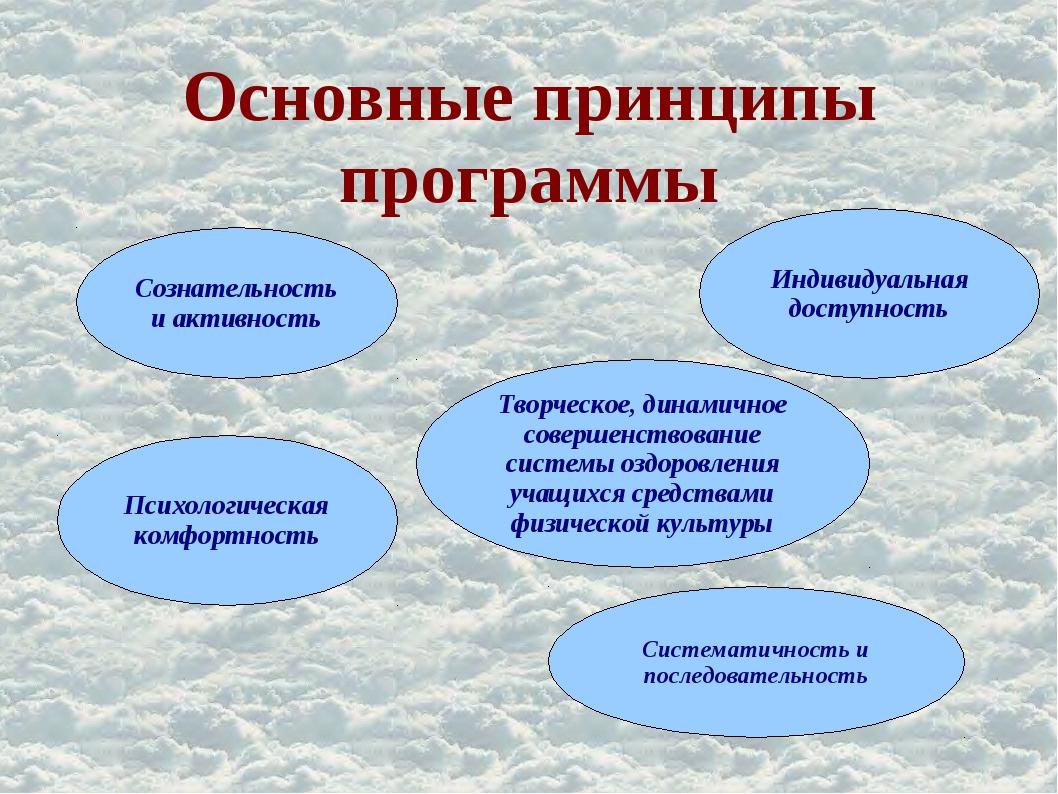Основные принципы программы . Сознательность и активность Психологическая ком...
