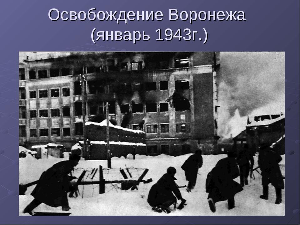 Освобождение Воронежа (январь 1943г.)
