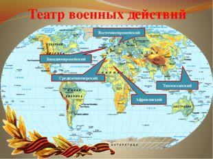 Театр военных действий Западноевропейский Восточноевропейский Средиземноморск