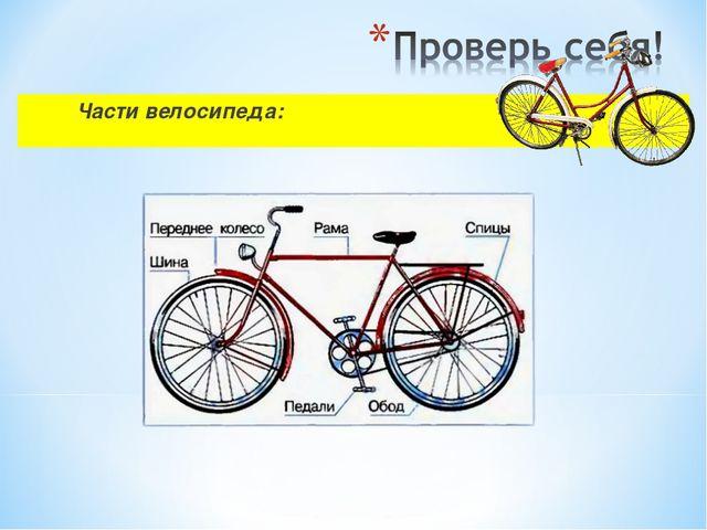 Части велосипеда: