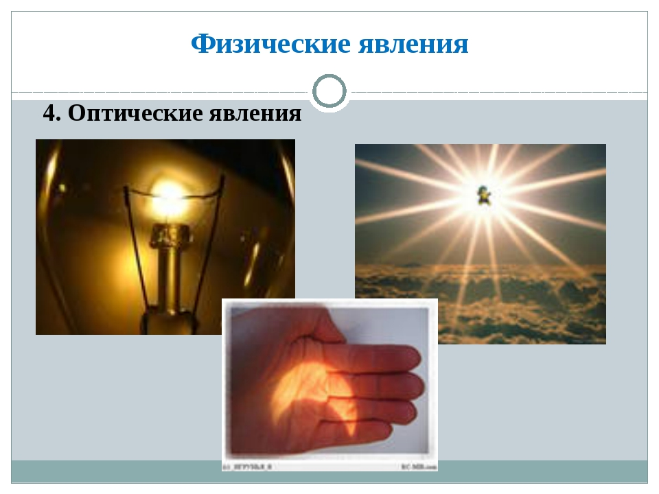 Физические явления 4. Оптические явления