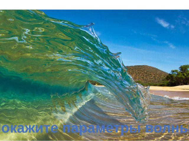 Покажите параметры волны