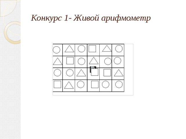 Конкурс 1- Живой арифмометр