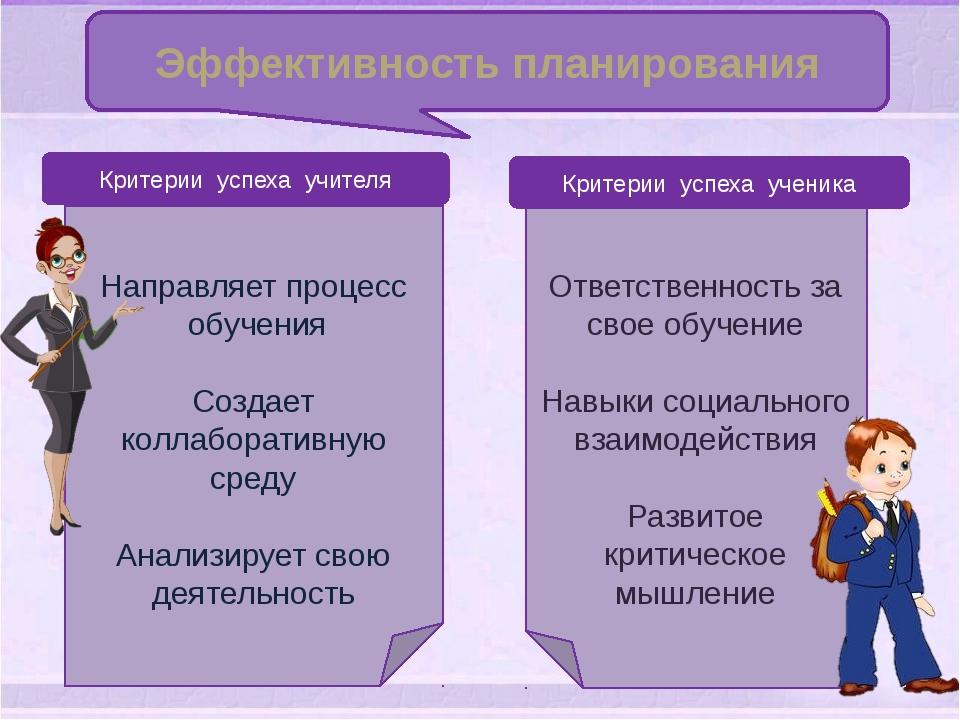 Эффективность планирования Ответственность за свое обучение Навыки социальног...