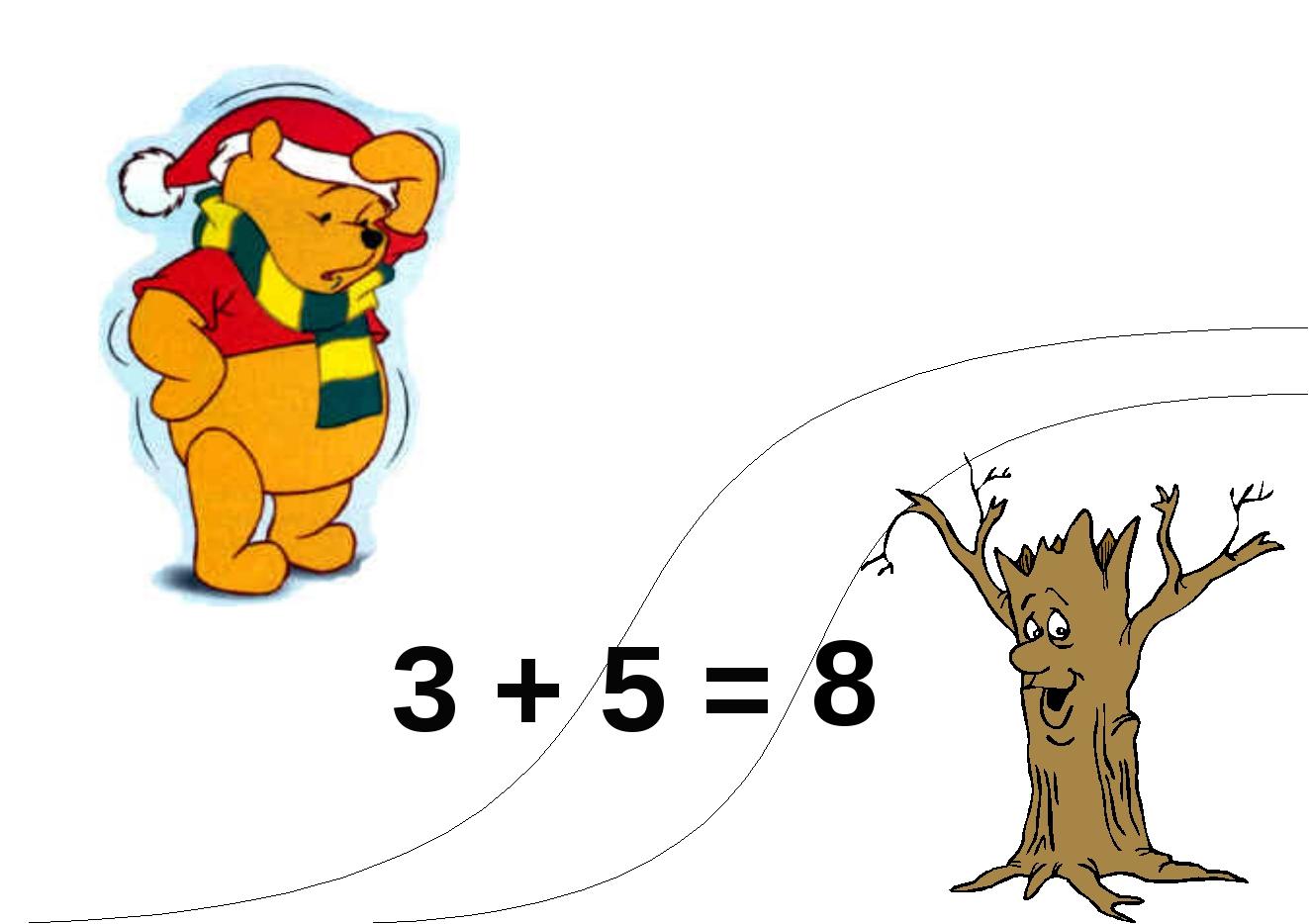 3 + 5 = 8