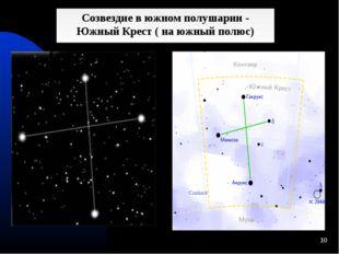 * Созвездие в южном полушарии - Южный Крест ( на южный полюс)