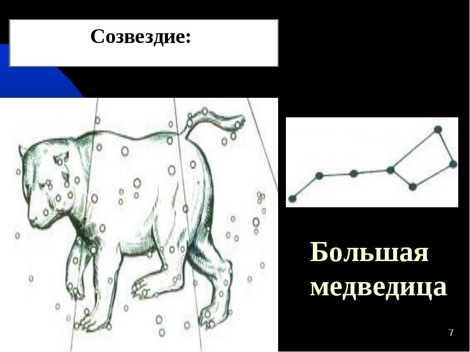 * * Большая медведица Созвездие: