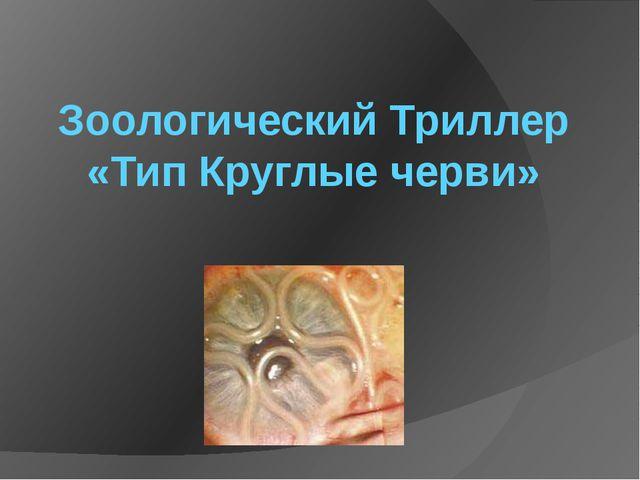Зоологический Триллер «Тип Круглые черви»