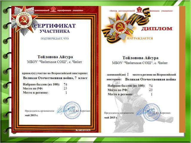 Тойлонова Айсура Мергеновна