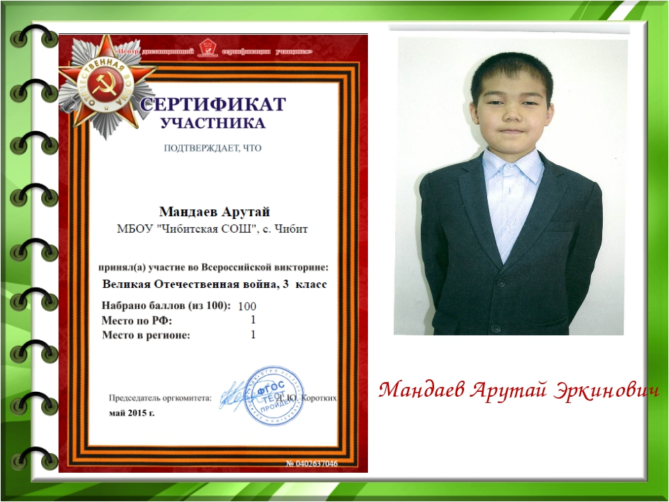 Мандаев Арутай Эркинович
