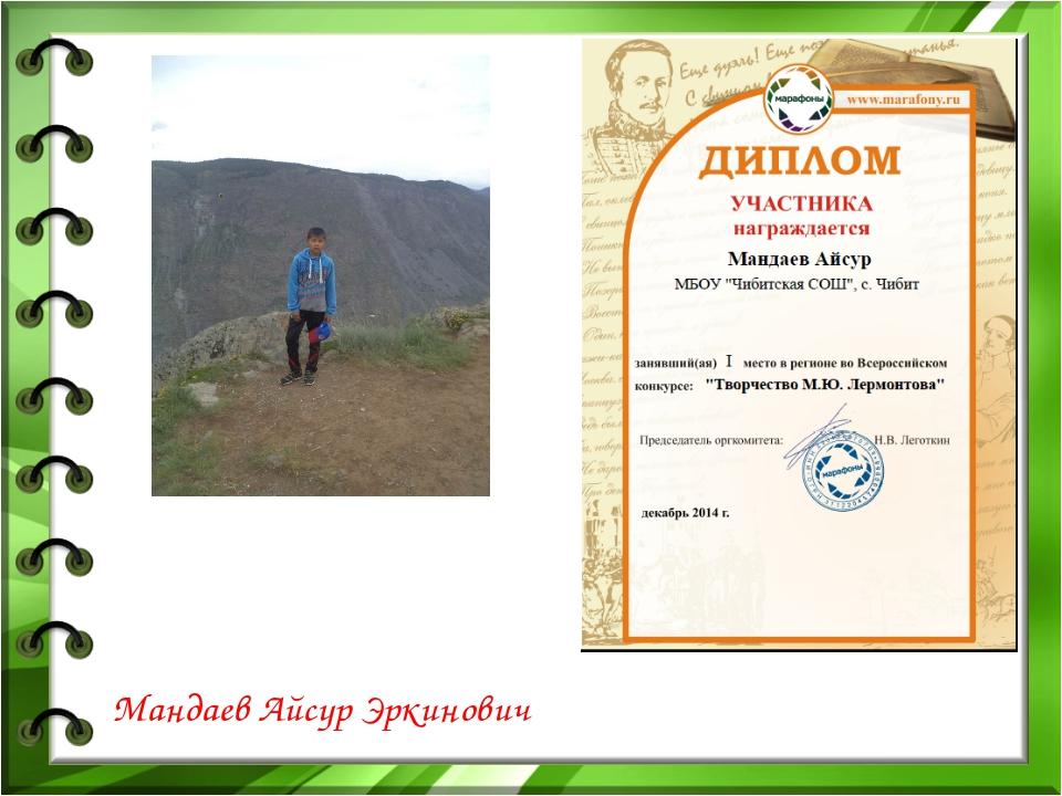 Мандаев Айсур Эркинович