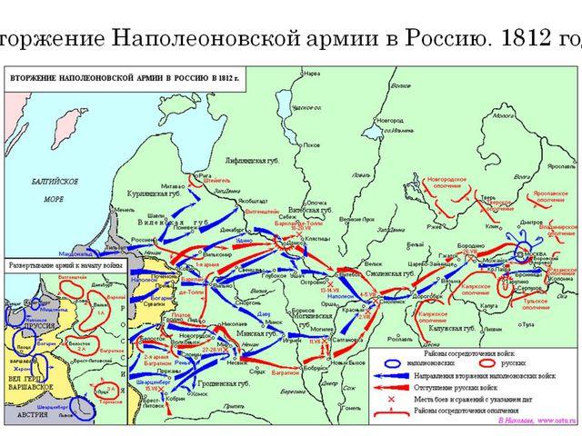 Вторжение Наполеоновской армии в Россию. 1812 год