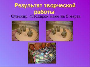 Результат творческой работы Сувенир «Подарок маме на 8 марта