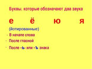 Буквы, которые обозначают два звука е ё ю я (йотированные) - В начале слова П