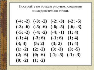 (-4; -2) (-3; -2) (-2; -3) (-2; -5) (-3; -6) (-5; -6) (-6; -5) (-6; -3) (-5;