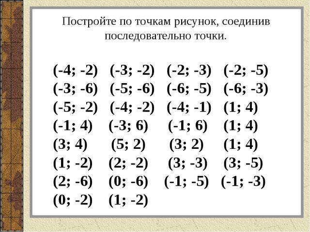 (-4; -2) (-3; -2) (-2; -3) (-2; -5) (-3; -6) (-5; -6) (-6; -5) (-6; -3) (-5;...