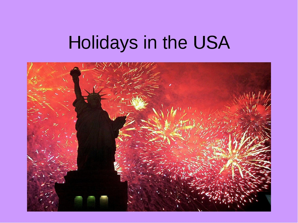 Holidays in the USA