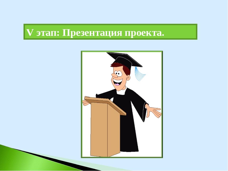 V этап: Презентация проекта.