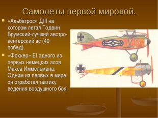 Самолеты первой мировой. «Альбатрос» ДIII на котором летал Годвин Брумский-лу