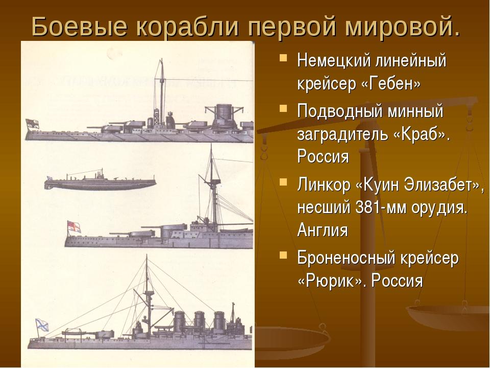 Боевые корабли первой мировой. Немецкий линейный крейсер «Гебен» Подводный ми...