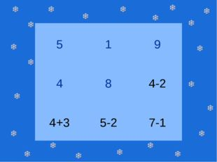 5 1 9 4 8 4-2 4+3 5-2 7-1