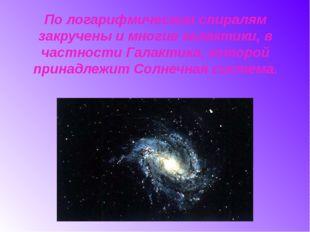 По логарифмическим спиралям закручены и многие галактики, в частности Галакти