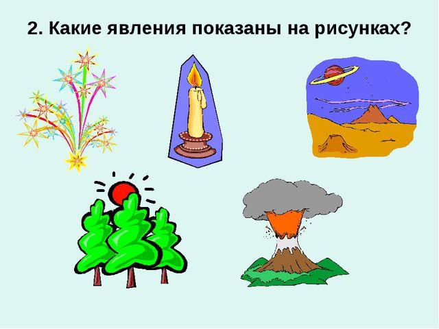 2. Какие явления показаны на рисунках?
